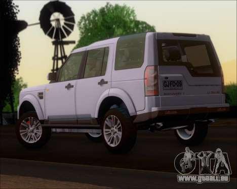 Land Rover Discovery 4 pour GTA San Andreas laissé vue