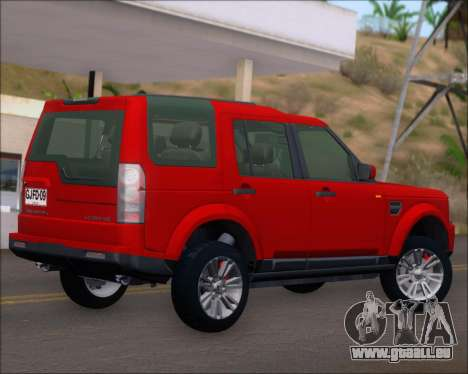Land Rover Discovery 4 pour GTA San Andreas vue arrière