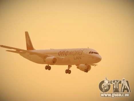 Airbus A320-214 LAN Oneworld pour GTA San Andreas vue intérieure