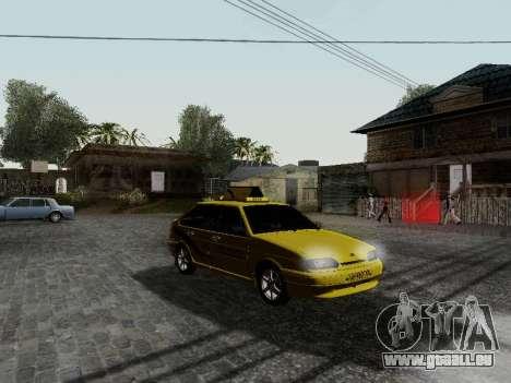 VAZ 2114 TMK postcombustion pour GTA San Andreas laissé vue