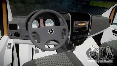 Mercedes-Benz Sprinter 313 cdi pour GTA 4 Vue arrière