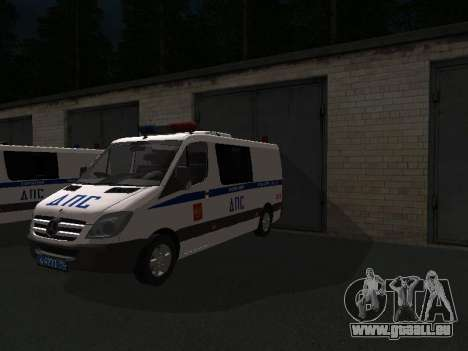 Mercedes-Benz Sprinter ДПС pour GTA San Andreas