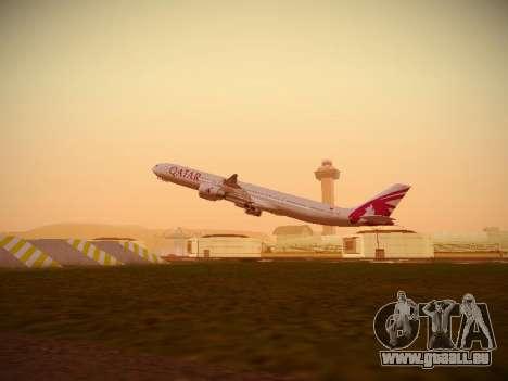 Airbus A340-600 Qatar Airways pour GTA San Andreas salon