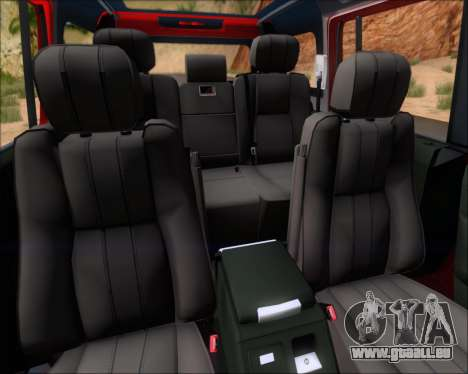 Land Rover Discovery 4 pour GTA San Andreas moteur