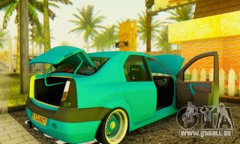 Dacia Logan Elegant pour GTA San Andreas vue de droite
