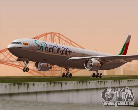 Airbus A330-300 SriLankan Airlines pour GTA San Andreas sur la vue arrière gauche