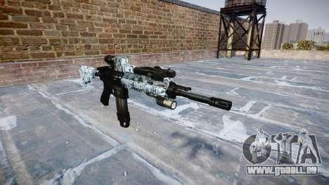 Fusil automatique Colt M4A1 crânes pour GTA 4