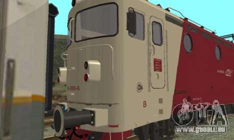 Le 3400Kw pour GTA San Andreas sur la vue arrière gauche