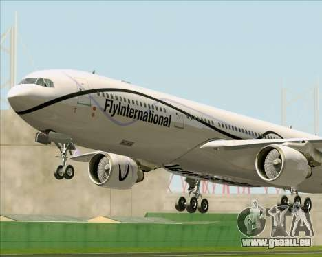 Airbus A330-300 Fly International für GTA San Andreas Räder