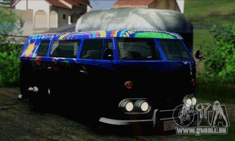 GTA V Surfer pour GTA San Andreas sur la vue arrière gauche