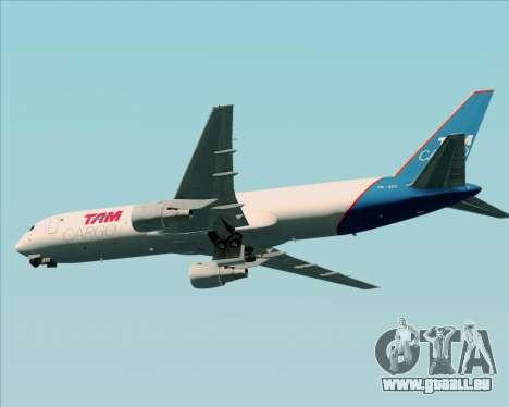 Boeing 767-300ER F TAM Cargo pour GTA San Andreas vue arrière