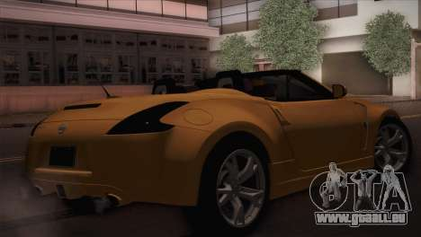 Nissan 370Z Roadster für GTA San Andreas linke Ansicht