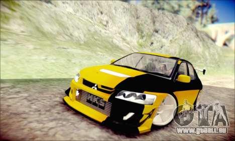 Mitsubishi Lancer Turkis Drift für GTA San Andreas linke Ansicht