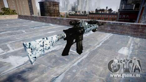 Fusil automatique Colt M4A1 crânes pour GTA 4 secondes d'écran