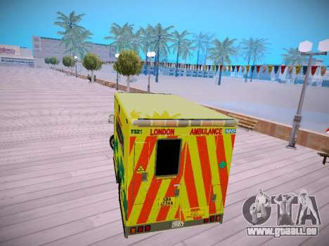 Mercedes-Benz Sprinter London Ambulance pour GTA San Andreas vue de droite