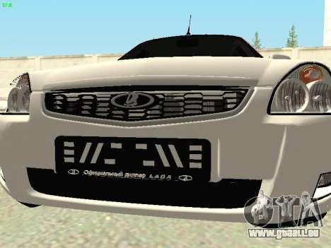 Lada 2172 Priora pour GTA San Andreas vue intérieure
