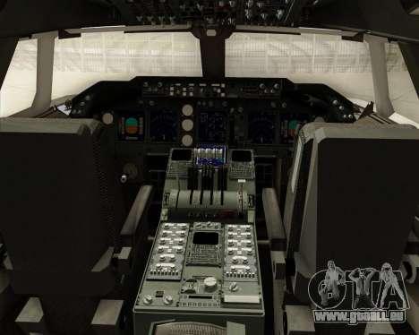 Boeing 747-8 Cargo Cargolux pour GTA San Andreas salon