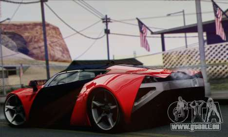 Marussia B2 pour GTA San Andreas laissé vue