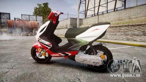 Yamaha Aerox für GTA 4 linke Ansicht