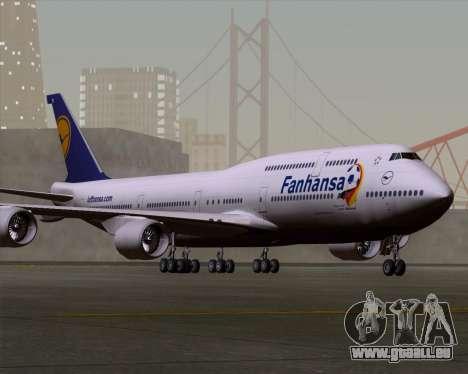 Boeing 747-830 Lufthansa - Fanhansa für GTA San Andreas linke Ansicht