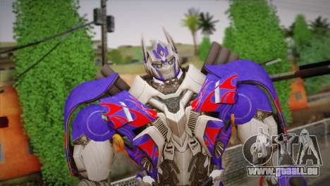 Optimus Prime pour GTA San Andreas troisième écran
