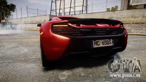 McLaren 650S Spider 2014 [EPM] Michelin v2 pour GTA 4 Vue arrière de la gauche