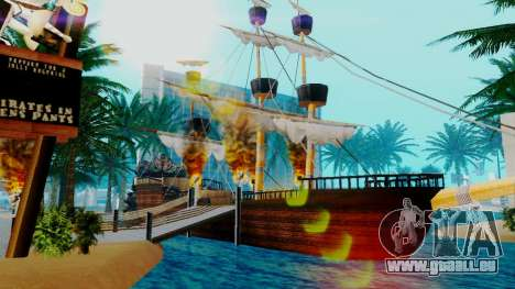 Nouveau navire de pirates dans Las Venturas pour GTA San Andreas