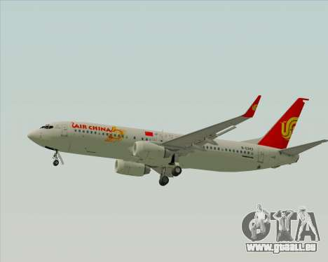 Boeing 737-89L Air China pour GTA San Andreas sur la vue arrière gauche