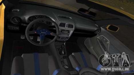 Subaru Impreza WRX 2002 Type 5 für GTA Vice City Seitenansicht
