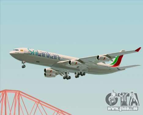 Airbus A340-313 SriLankan Airlines für GTA San Andreas Seitenansicht