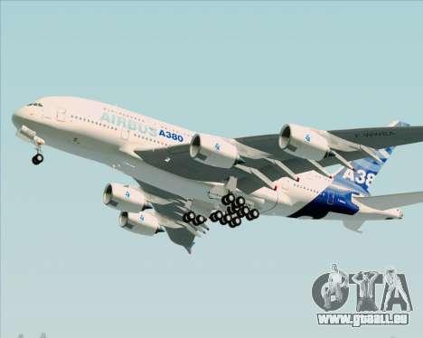 Airbus A380-861 für GTA San Andreas linke Ansicht