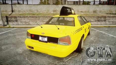 GTA V Vapid Taxi LCC pour GTA 4 Vue arrière de la gauche