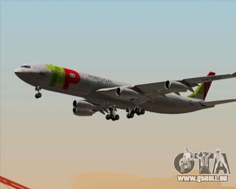 Airbus A340-312 TAP Portugal für GTA San Andreas Unteransicht