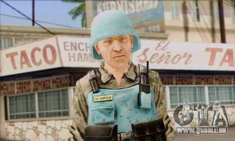 Un gardien de la paix de l'ONU (Poste 3) pour GTA San Andreas troisième écran
