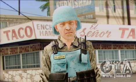 Eine UN-peacekeeper (Post 3) für GTA San Andreas dritten Screenshot