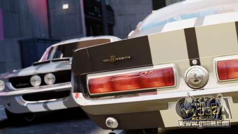 Shelby Cobra GT500 1967 pour GTA 4 est une vue de l'intérieur