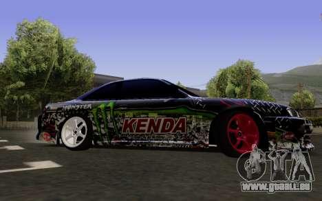 Nissan Silvia S14 Monster Energy für GTA San Andreas zurück linke Ansicht