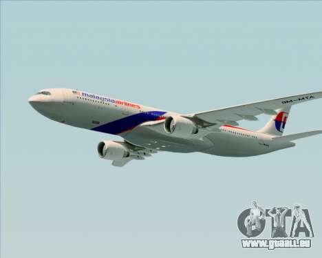 Airbus A330-323 Malaysia Airlines für GTA San Andreas Unteransicht