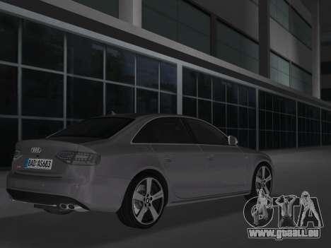 Audi S4 (B8) 2010 - Metallischen pour GTA Vice City sur la vue arrière gauche