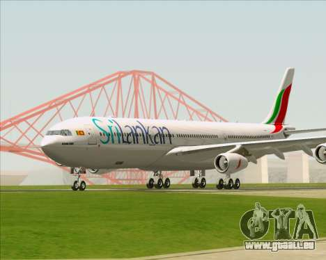 Airbus A340-313 SriLankan Airlines für GTA San Andreas linke Ansicht