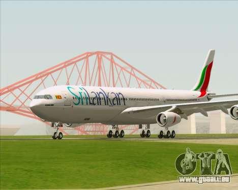 Airbus A340-313 SriLankan Airlines pour GTA San Andreas laissé vue