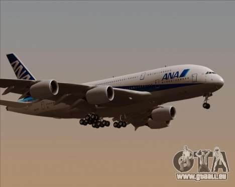 Airbus A380-800 All Nippon Airways (ANA) für GTA San Andreas rechten Ansicht