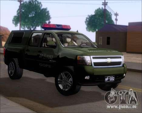 Chevrolet Silverado Gope pour GTA San Andreas