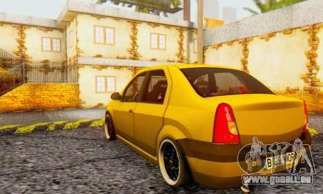 Dacia Logan MOR für GTA San Andreas Rückansicht