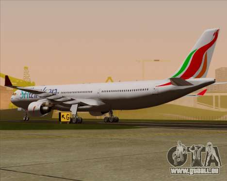 Airbus A330-300 SriLankan Airlines pour GTA San Andreas vue de droite