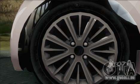 Aston Martin Cygnet pour GTA San Andreas sur la vue arrière gauche