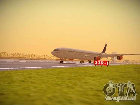 Airbus A340-300 Scandinavian Airlines pour GTA San Andreas laissé vue