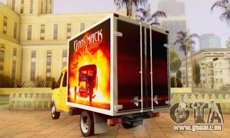 33023 GAZelle Godsmack - hat 1000hp (2014) für GTA San Andreas zurück linke Ansicht