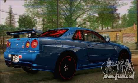 Nissan Skyline GTR34 für GTA San Andreas linke Ansicht
