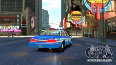 Ford Crown Victoria 1994 NYPD pour GTA 4 Vue arrière de la gauche